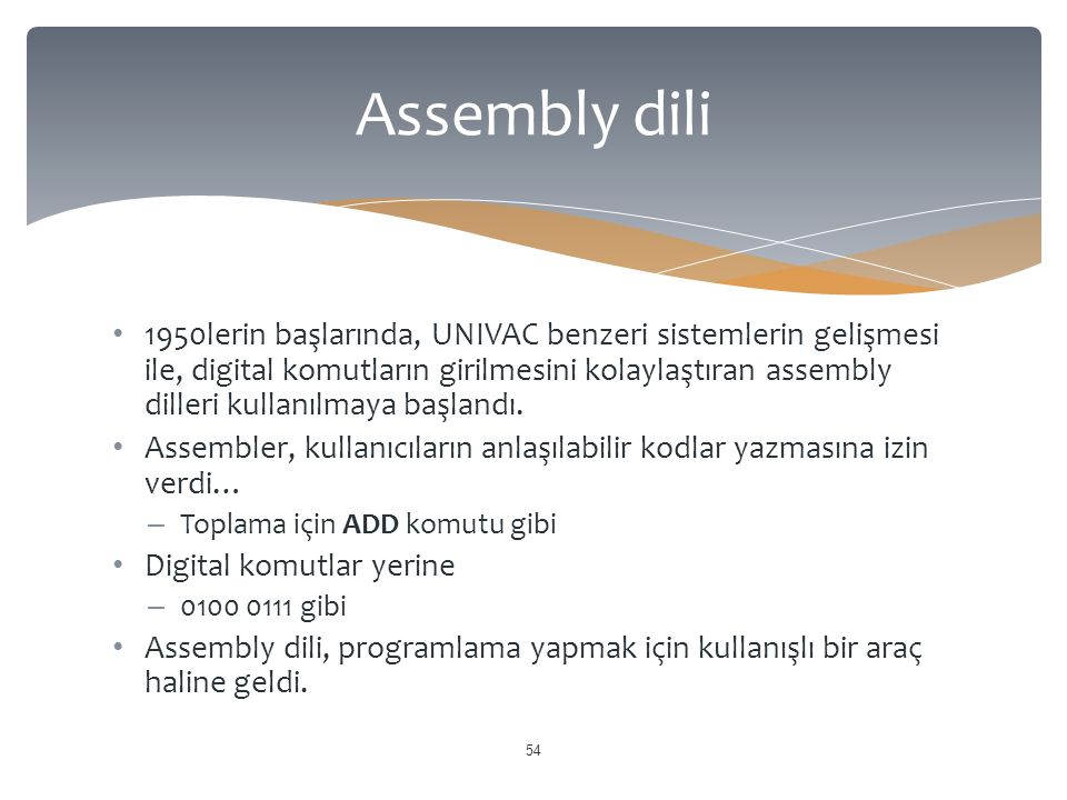 Assembly dili