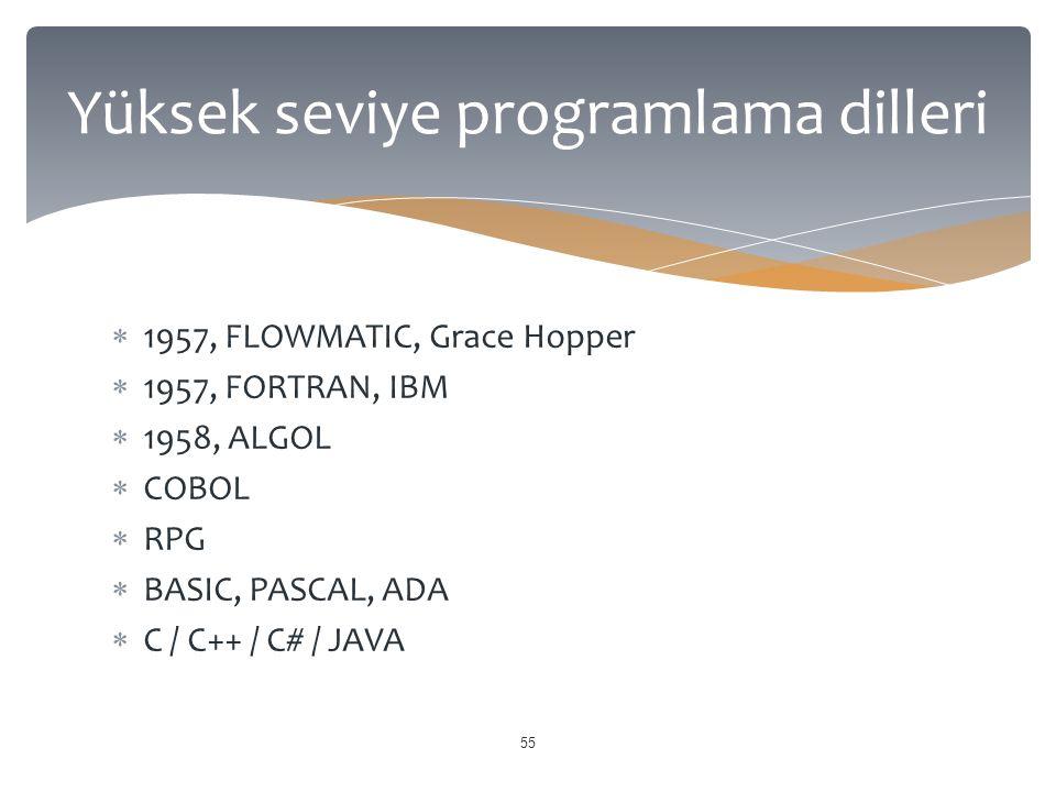 Yüksek seviye programlama dilleri