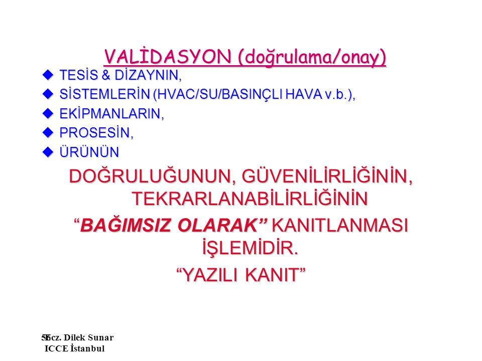 VALİDASYON (doğrulama/onay)