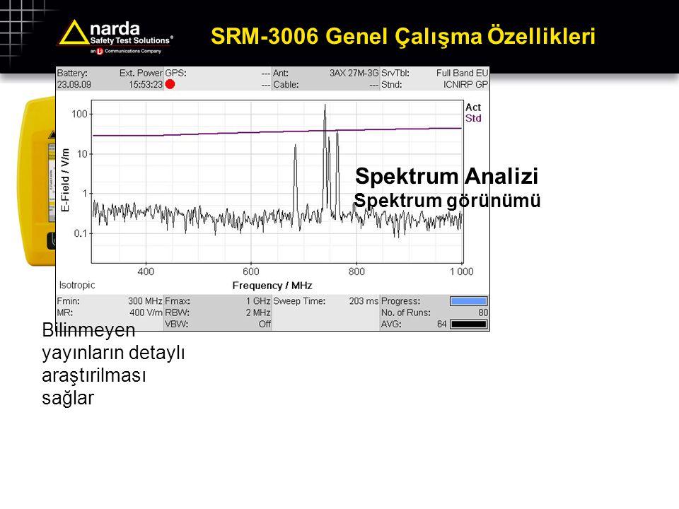 SRM-3006 Genel Çalışma Özellikleri