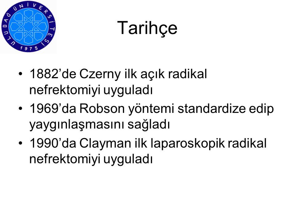 Tarihçe 1882'de Czerny ilk açık radikal nefrektomiyi uyguladı
