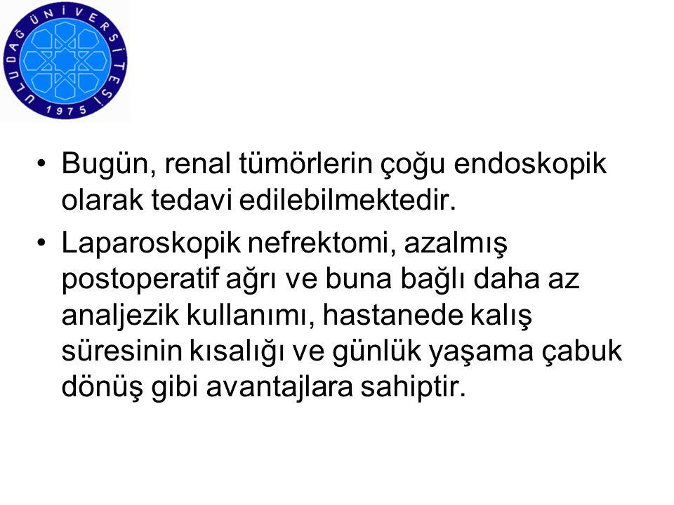 Bugün, renal tümörlerin çoğu endoskopik olarak tedavi edilebilmektedir.
