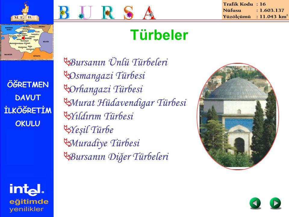 Türbeler Bursanın Ünlü Türbeleri Osmangazi Türbesi Orhangazi Türbesi