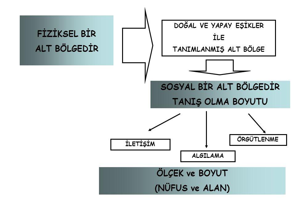 SOSYAL BİR ALT BÖLGEDİR