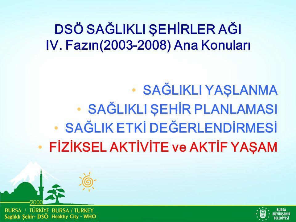 DSÖ SAĞLIKLI ŞEHİRLER AĞI IV. Fazın(2003-2008) Ana Konuları