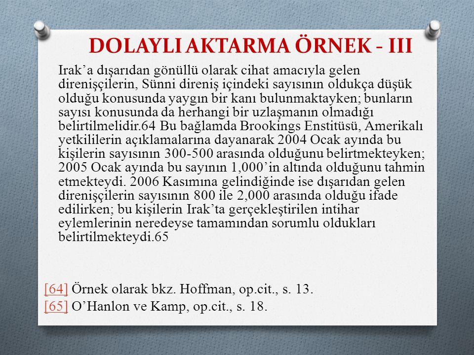 DOLAYLI AKTARMA ÖRNEK - III