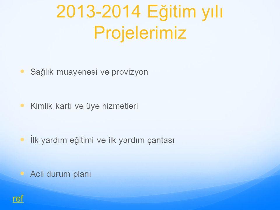 2013-2014 Eğitim yılı Projelerimiz
