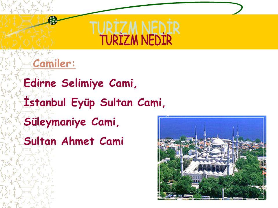 İstanbul Eyüp Sultan Cami, Süleymaniye Cami, Sultan Ahmet Cami