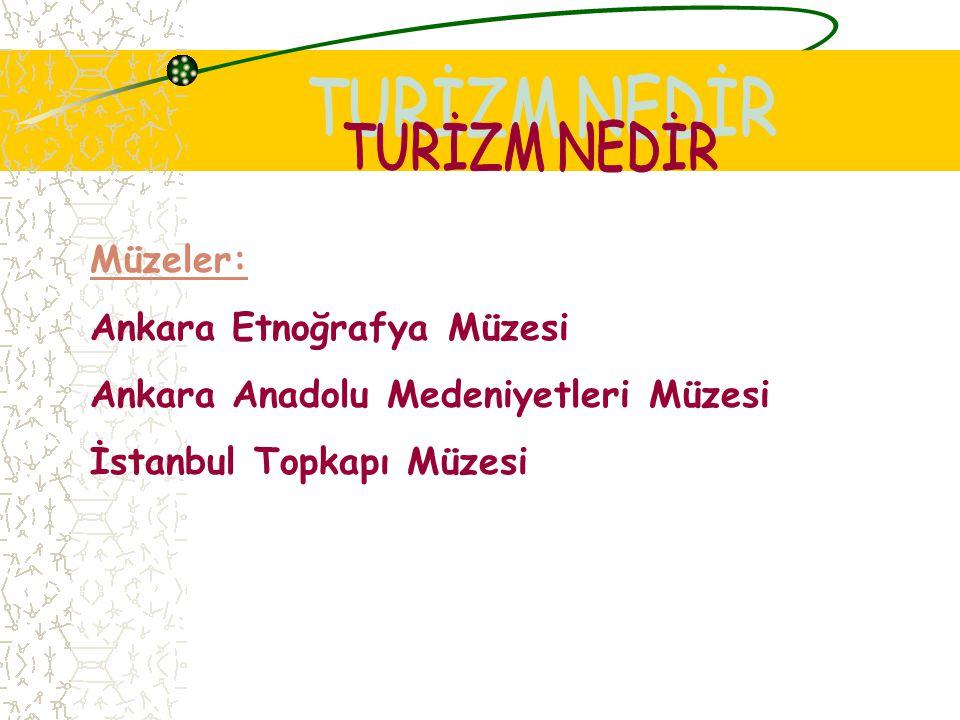 TURİZM NEDİR Müzeler: Ankara Etnoğrafya Müzesi