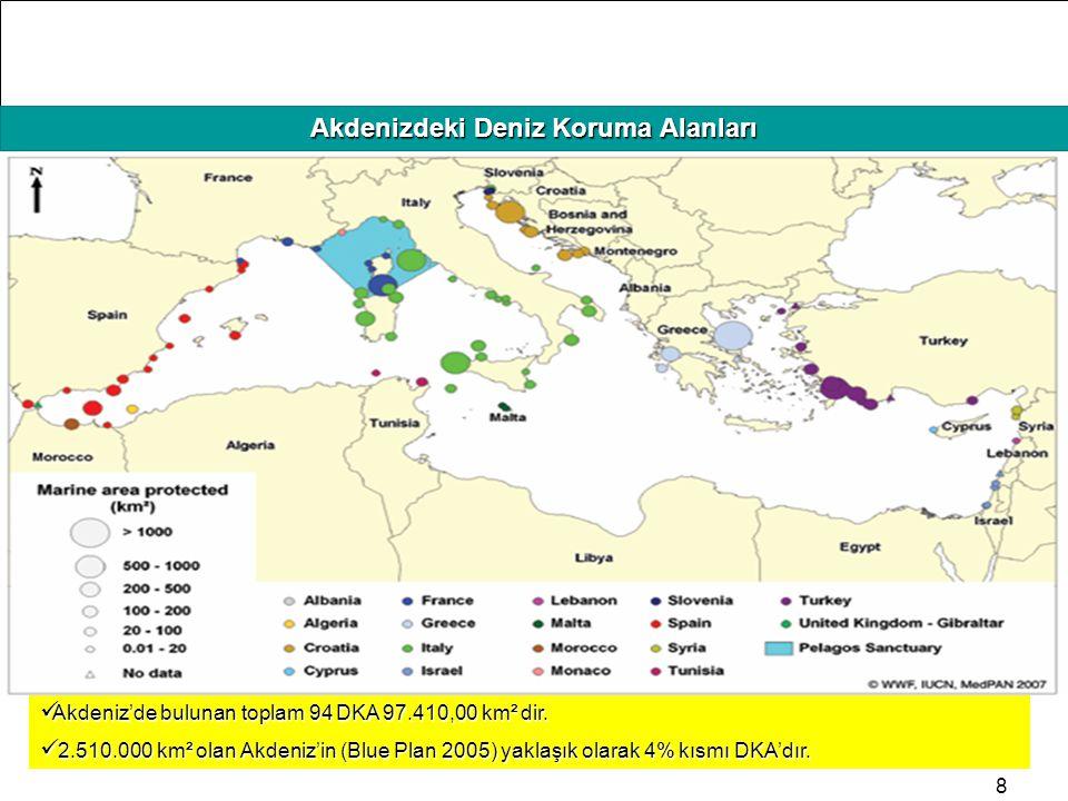 Akdenizdeki Deniz Koruma Alanları