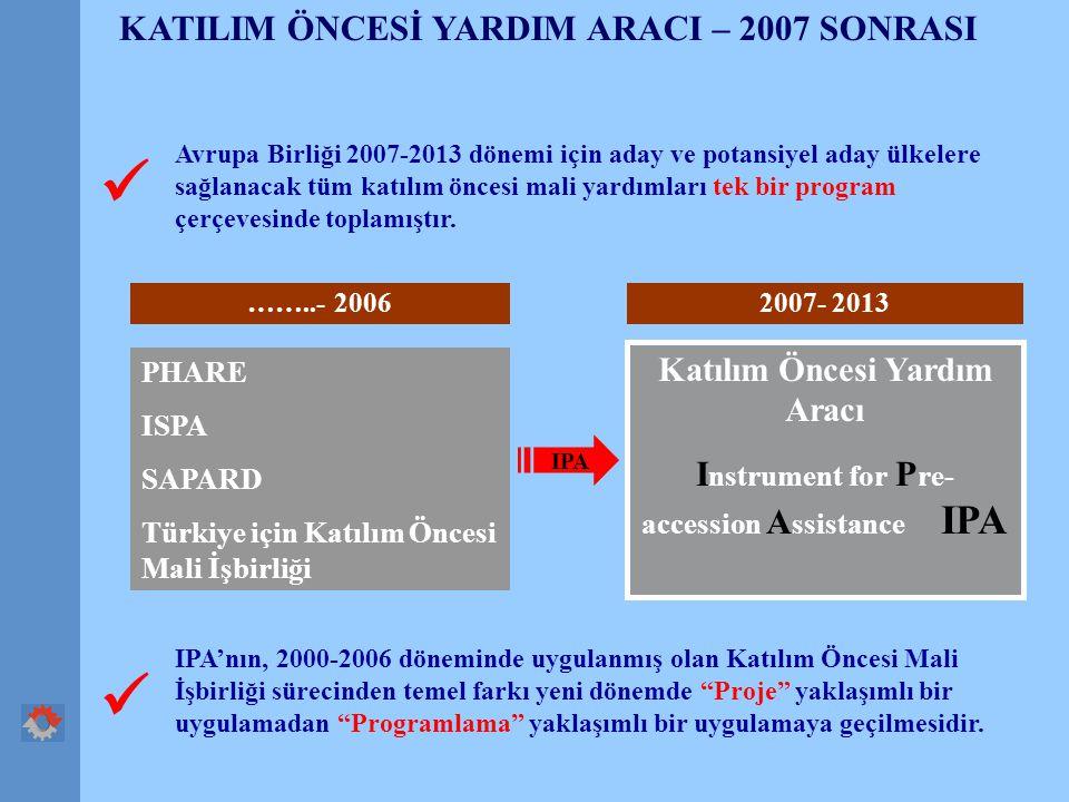   KATILIM ÖNCESİ YARDIM ARACI – 2007 SONRASI