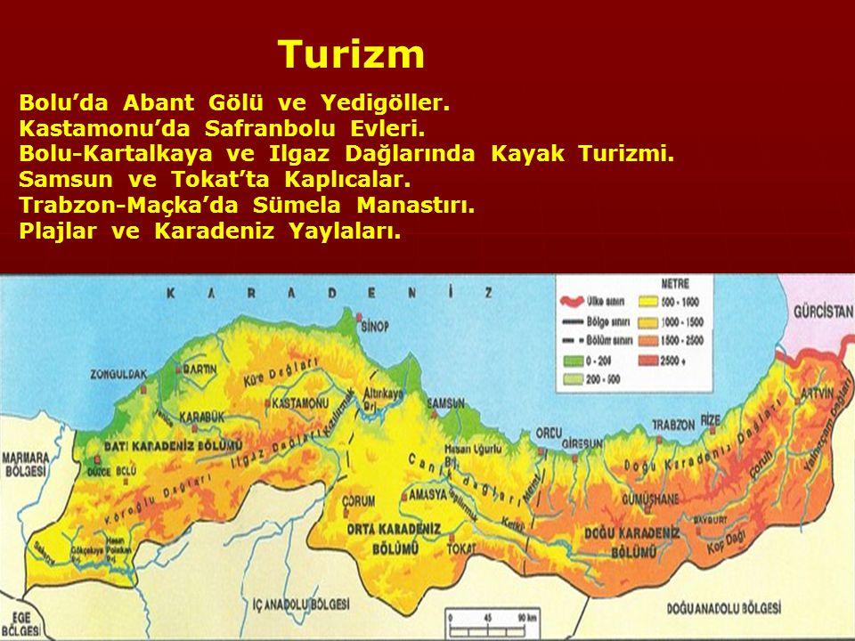 Turizm Bolu'da Abant Gölü ve Yedigöller. Kastamonu'da Safranbolu Evleri.