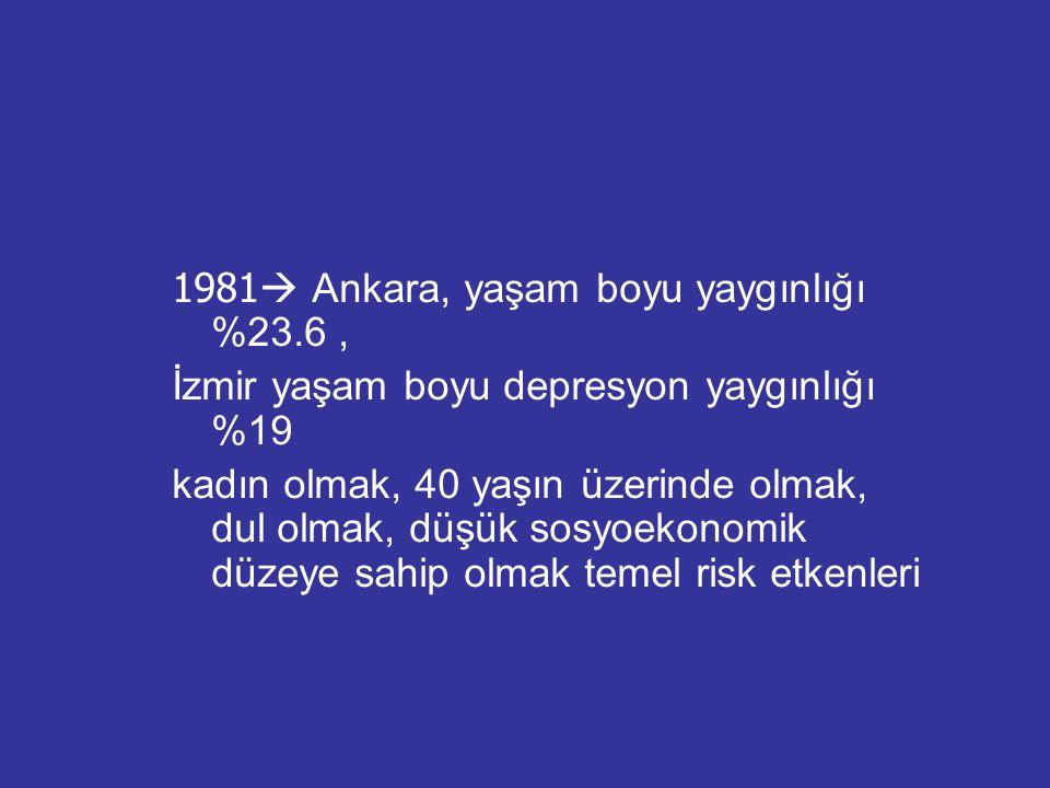 1981 Ankara, yaşam boyu yaygınlığı %23.6 ,