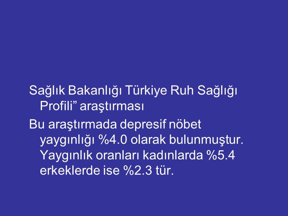 Sağlık Bakanlığı Türkiye Ruh Sağlığı Profili araştırması