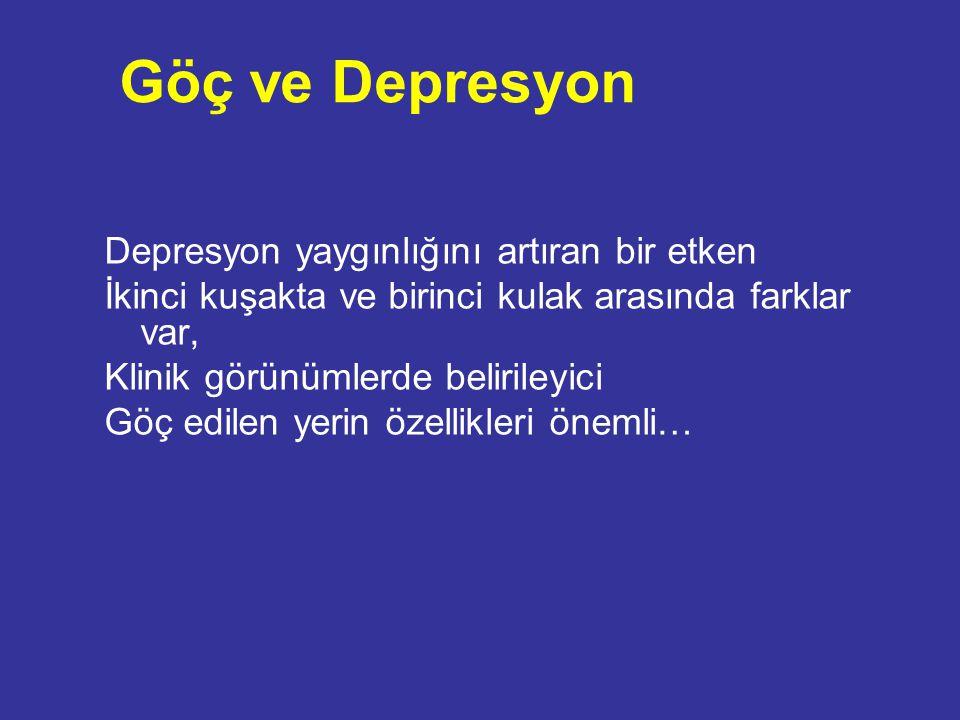 Göç ve Depresyon Depresyon yaygınlığını artıran bir etken