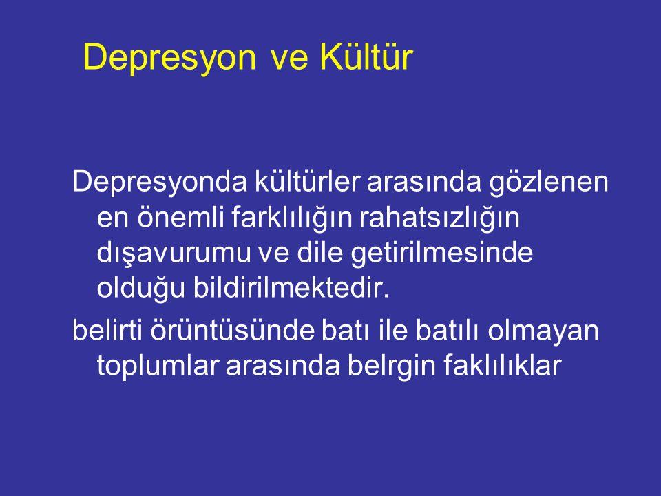 Depresyon ve Kültür