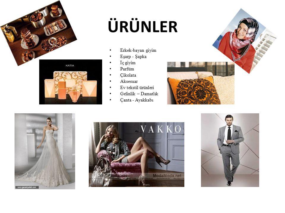 ÜRÜNLER Erkek-bayan giyim Eşarp - Şapka İç giyim Parfüm Çikolata