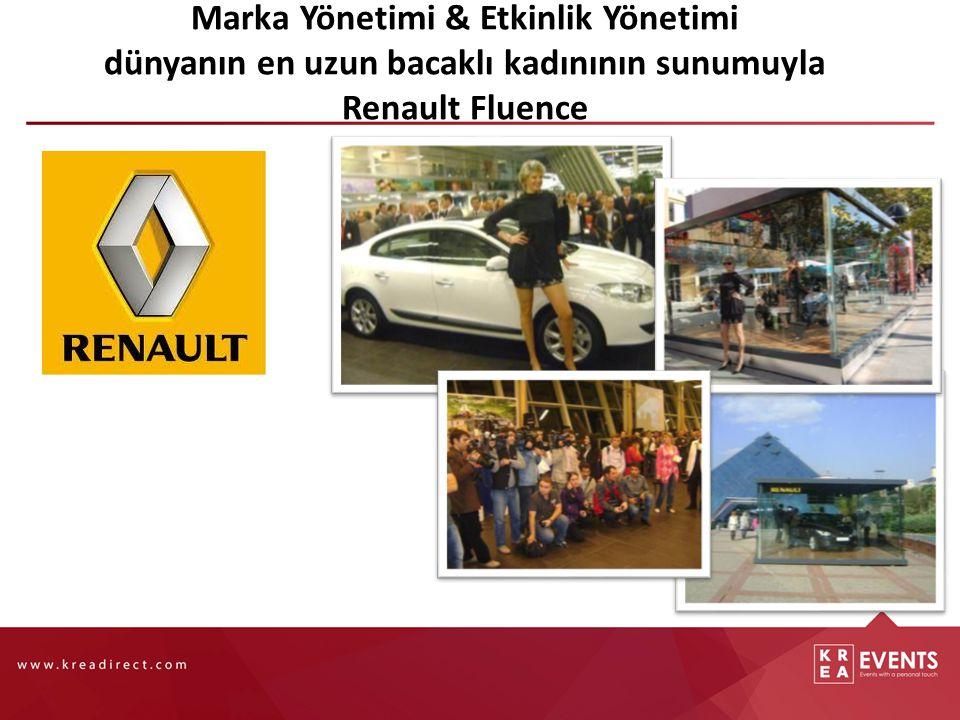 Marka Yönetimi & Etkinlik Yönetimi dünyanın en uzun bacaklı kadınının sunumuyla Renault Fluence