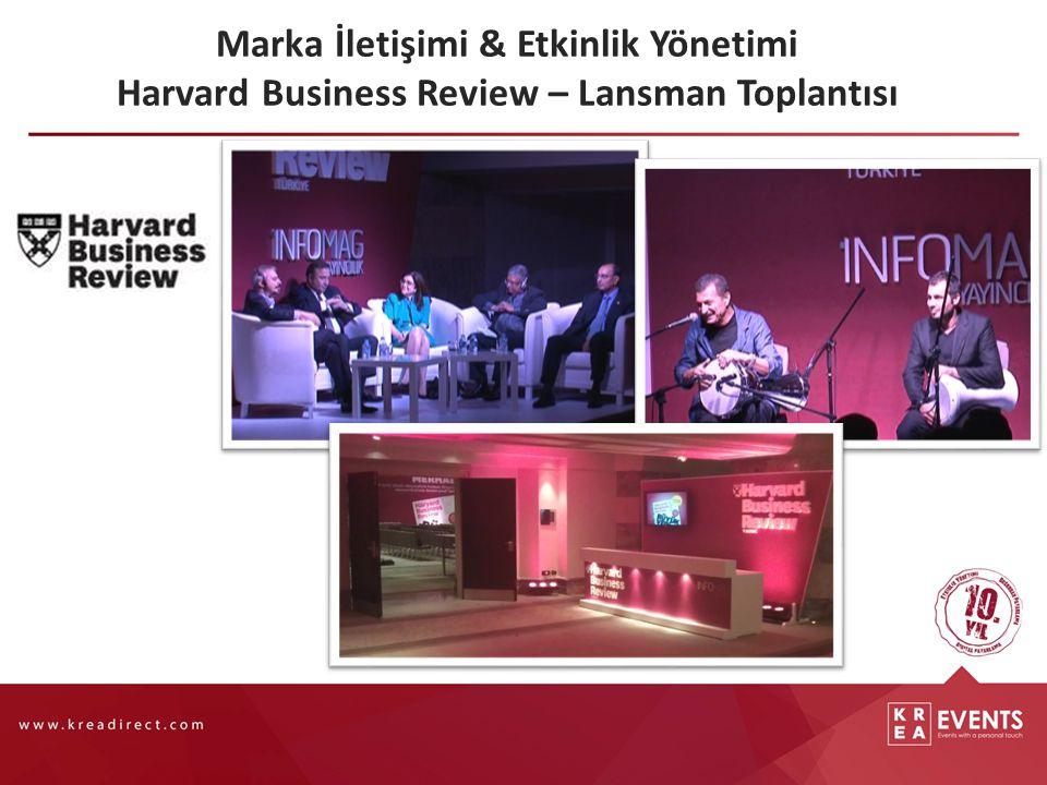 Marka İletişimi & Etkinlik Yönetimi Harvard Business Review – Lansman Toplantısı
