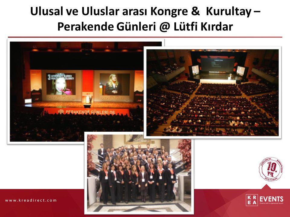 Ulusal ve Uluslar arası Kongre & Kurultay – Perakende Günleri @ Lütfi Kırdar