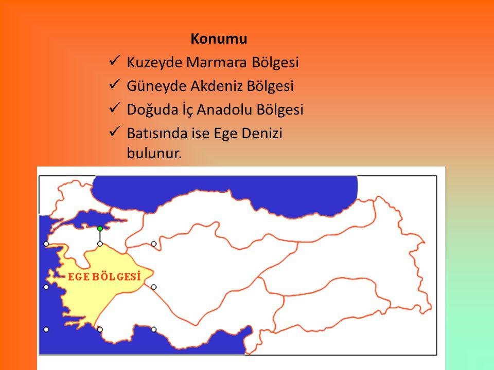 Konumu Kuzeyde Marmara Bölgesi. Güneyde Akdeniz Bölgesi.