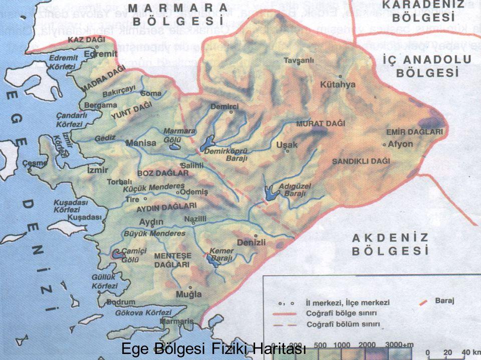 Ege Bölgesi Fiziki Haritası