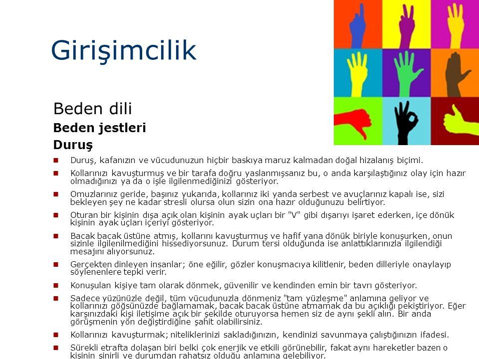 Girişimcilik Beden dili Beden jestleri Duruş