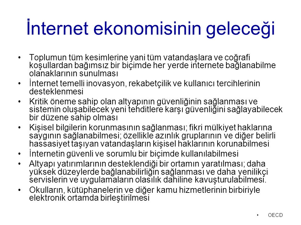 İnternet ekonomisinin geleceği