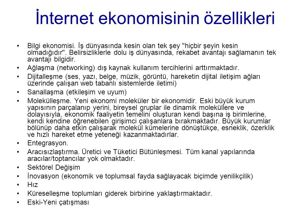 İnternet ekonomisinin özellikleri