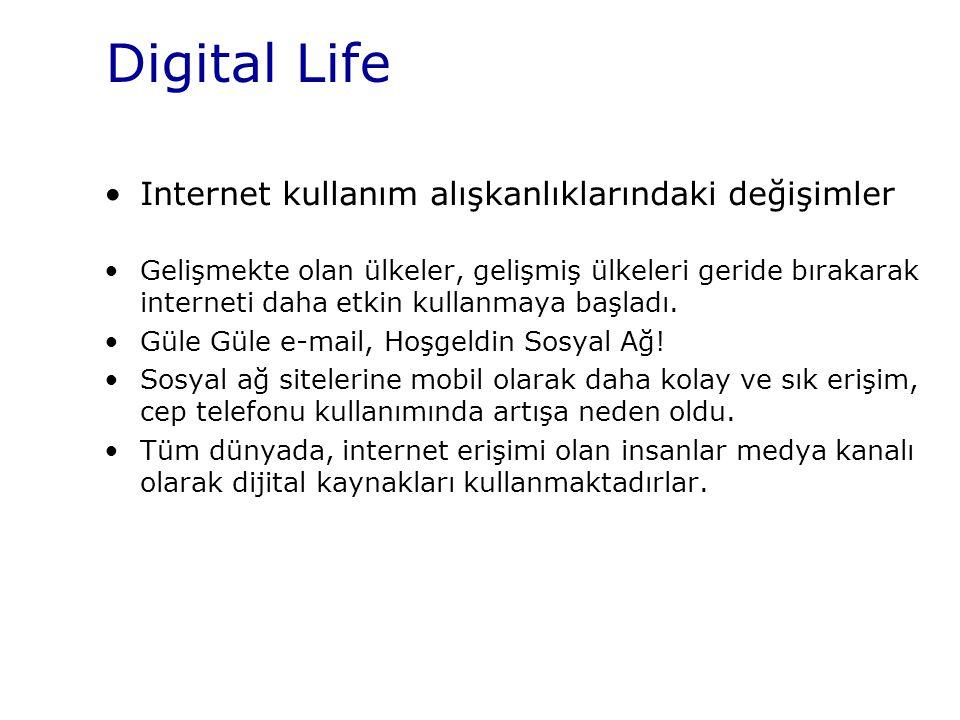 Digital Life Internet kullanım alışkanlıklarındaki değişimler