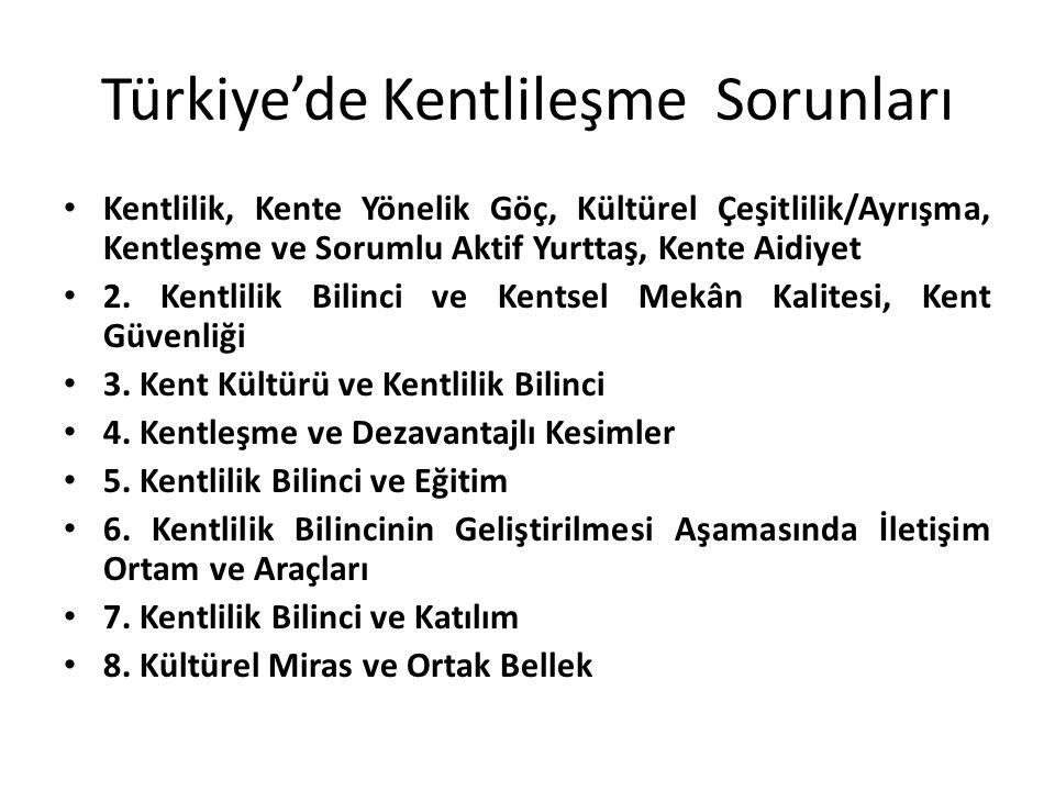 Türkiye'de Kentlileşme Sorunları