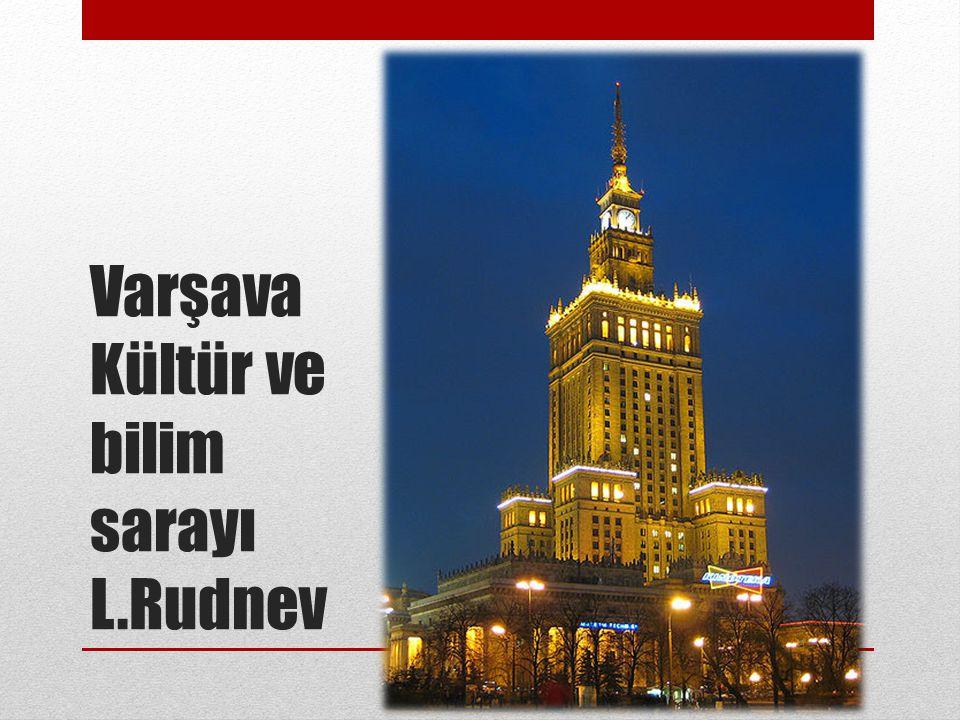 Varşava Kültür ve bilim sarayı L.Rudnev