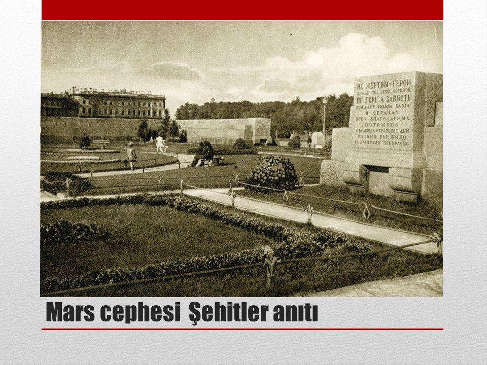 Mars cephesi Şehitler anıtı
