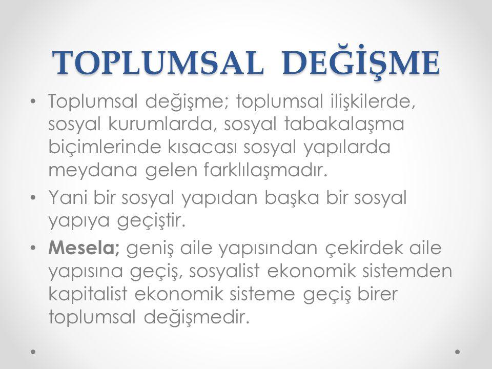 TOPLUMSAL DEĞİŞME