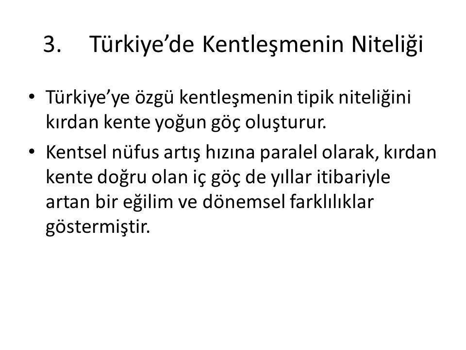 3. Türkiye'de Kentleşmenin Niteliği