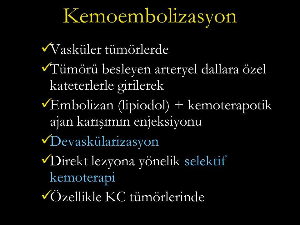 Kemoembolizasyon Vasküler tümörlerde