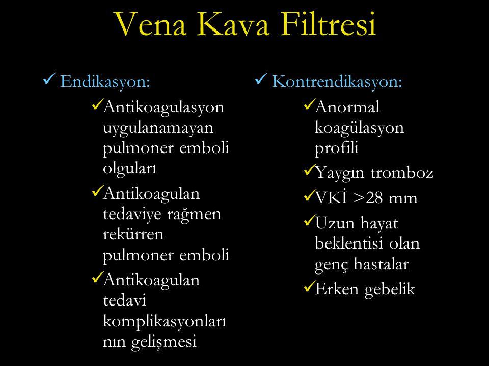 Vena Kava Filtresi Endikasyon: