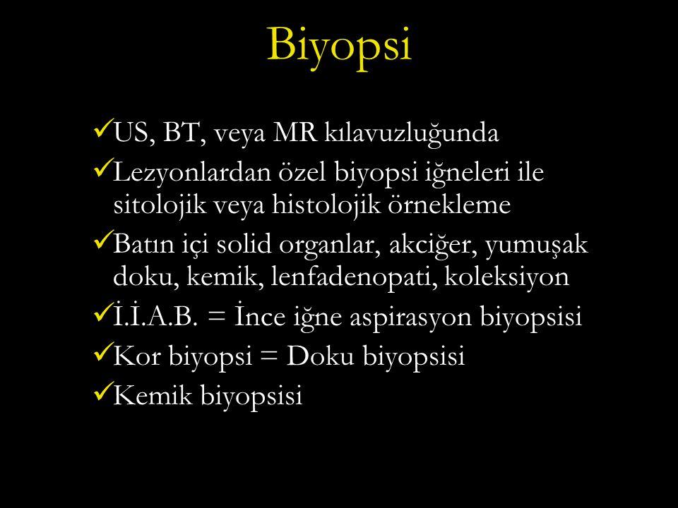Biyopsi US, BT, veya MR kılavuzluğunda
