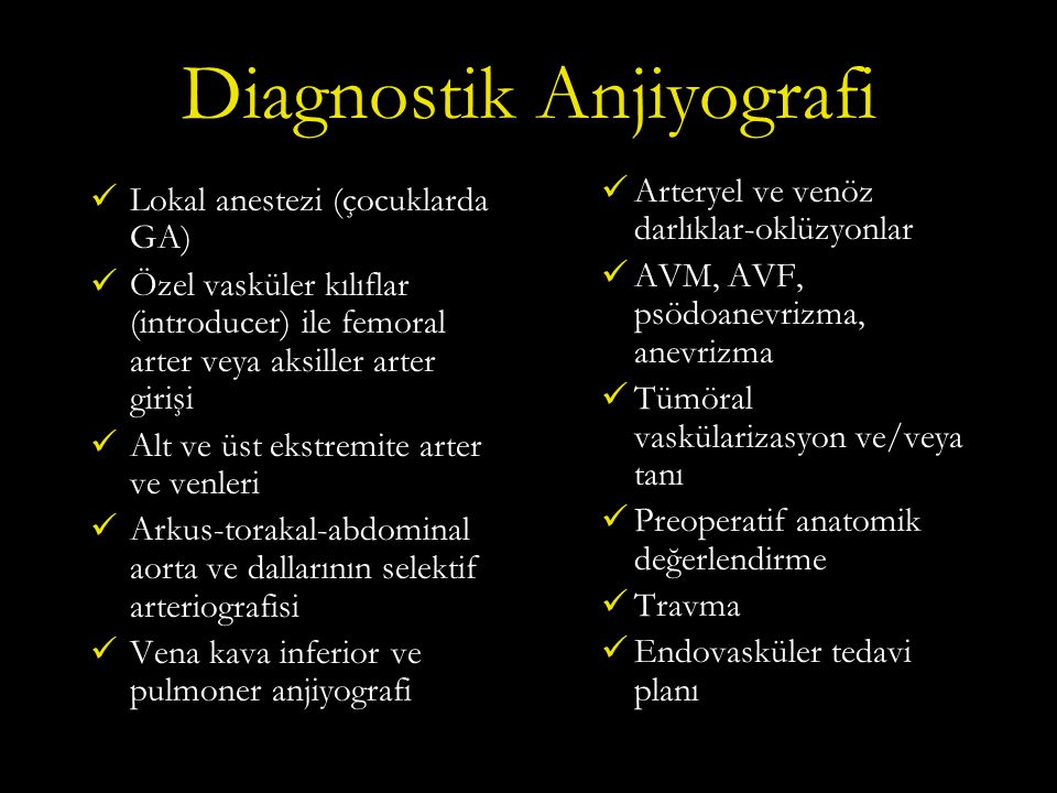 Diagnostik Anjiyografi
