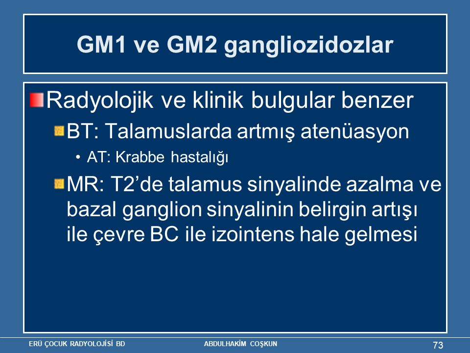 GM1 ve GM2 gangliozidozlar