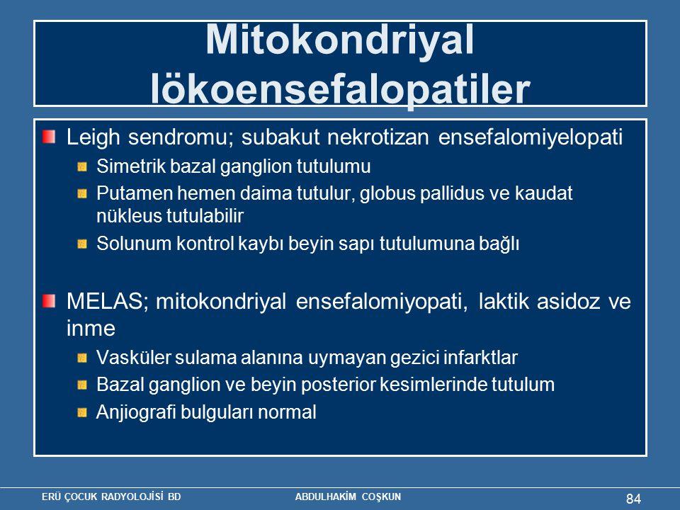 Mitokondriyal lökoensefalopatiler