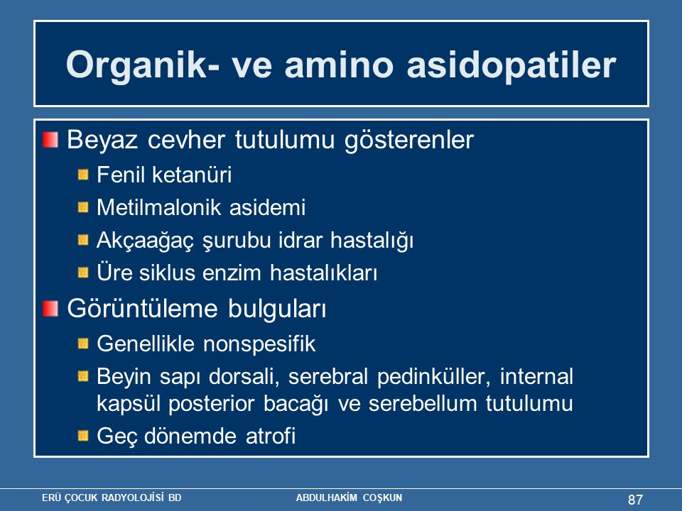 Organik- ve amino asidopatiler