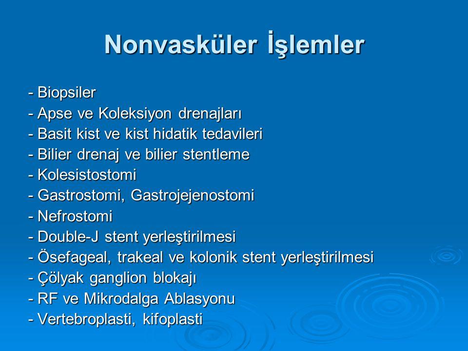 Nonvasküler İşlemler - Biopsiler - Apse ve Koleksiyon drenajları