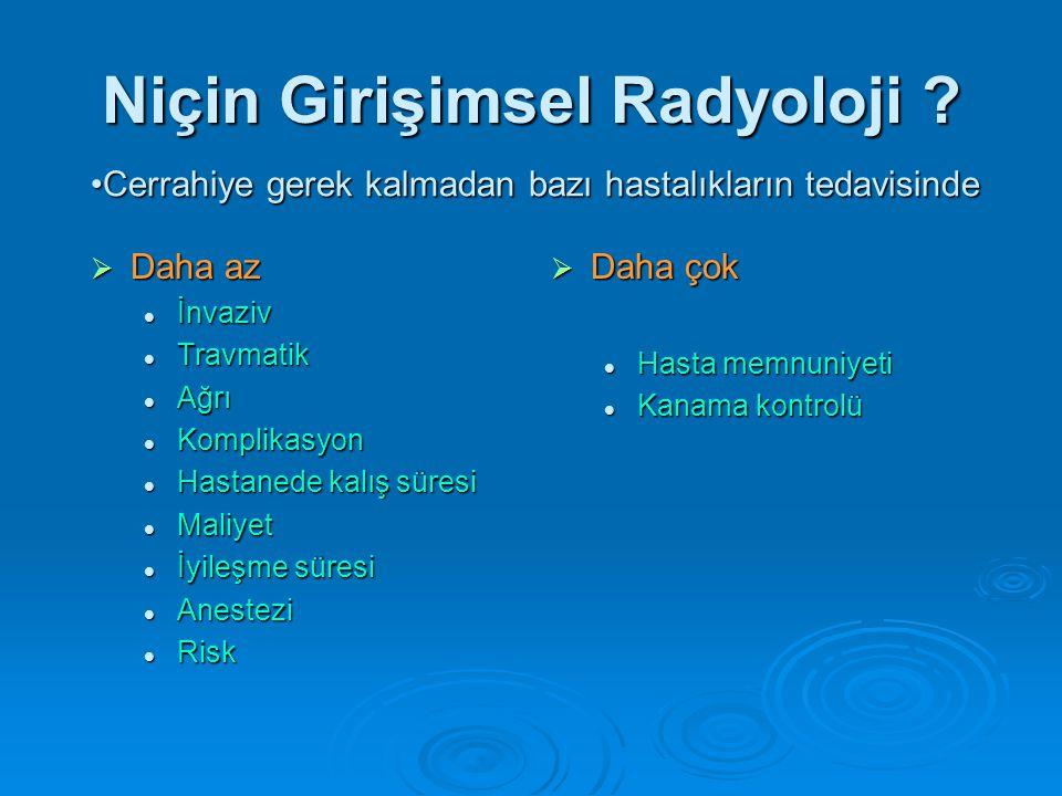Niçin Girişimsel Radyoloji