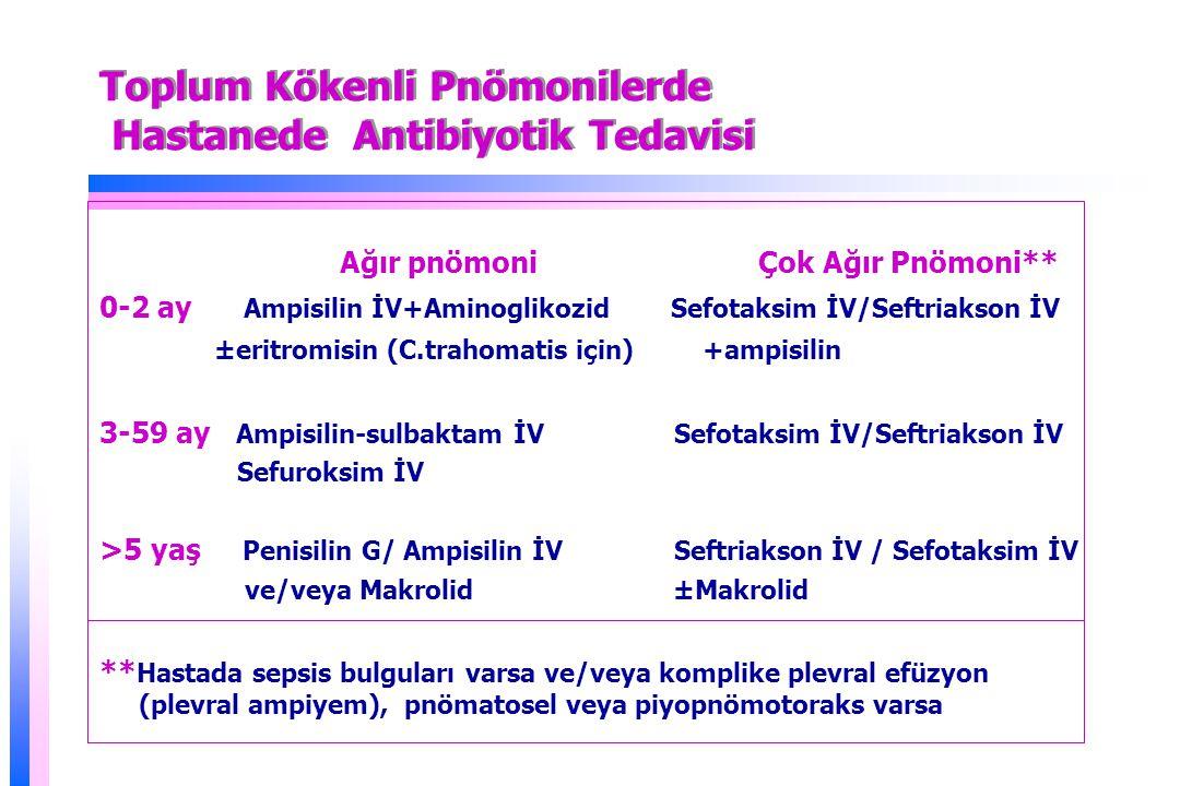Toplum Kökenli Pnömonilerde Hastanede Antibiyotik Tedavisi
