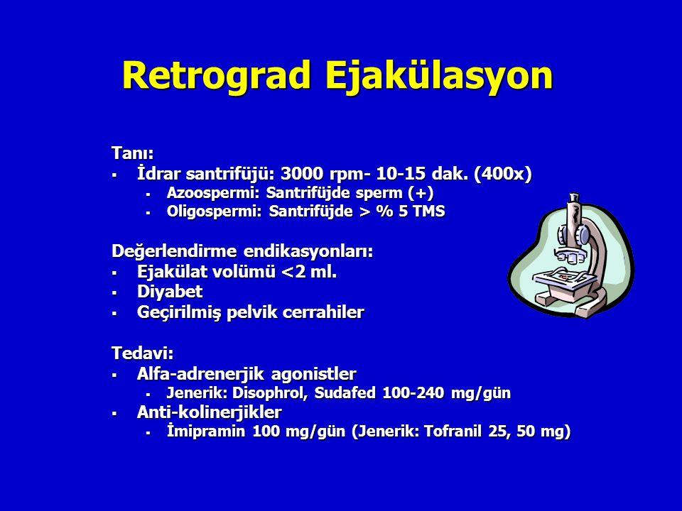 Retrograd Ejakülasyon