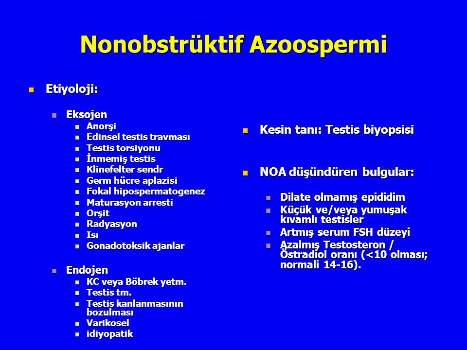 Nonobstrüktif Azoospermi