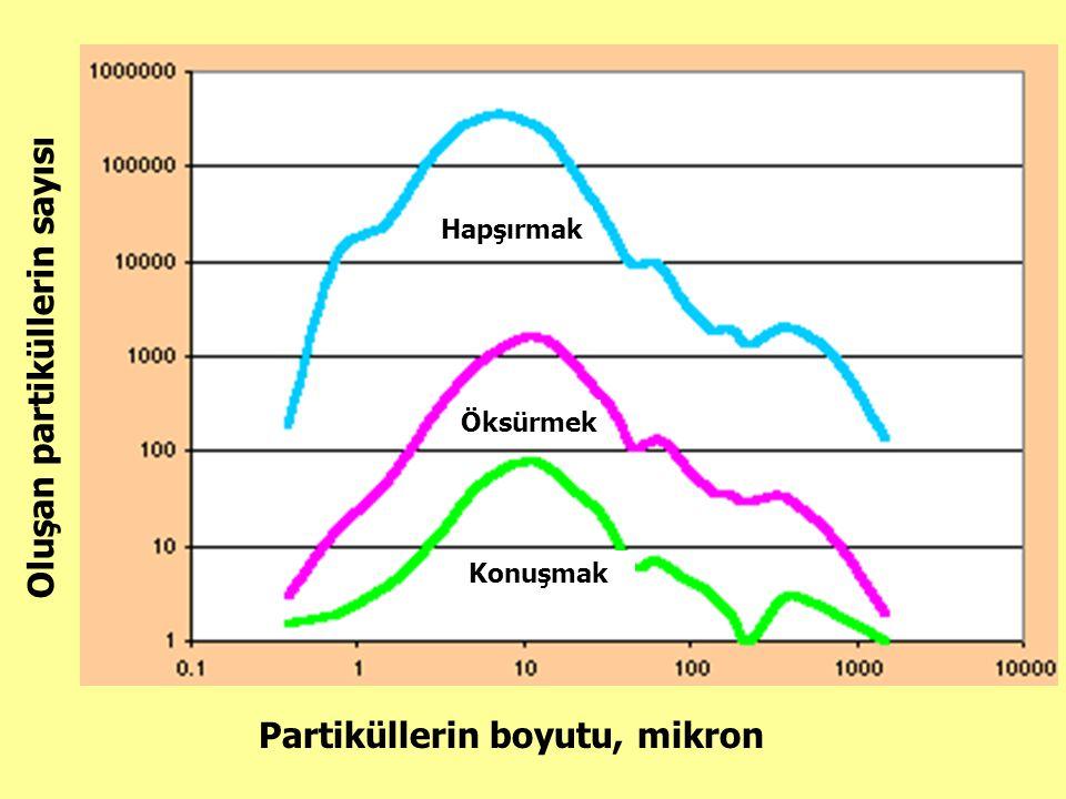 Oluşan partiküllerin sayısı