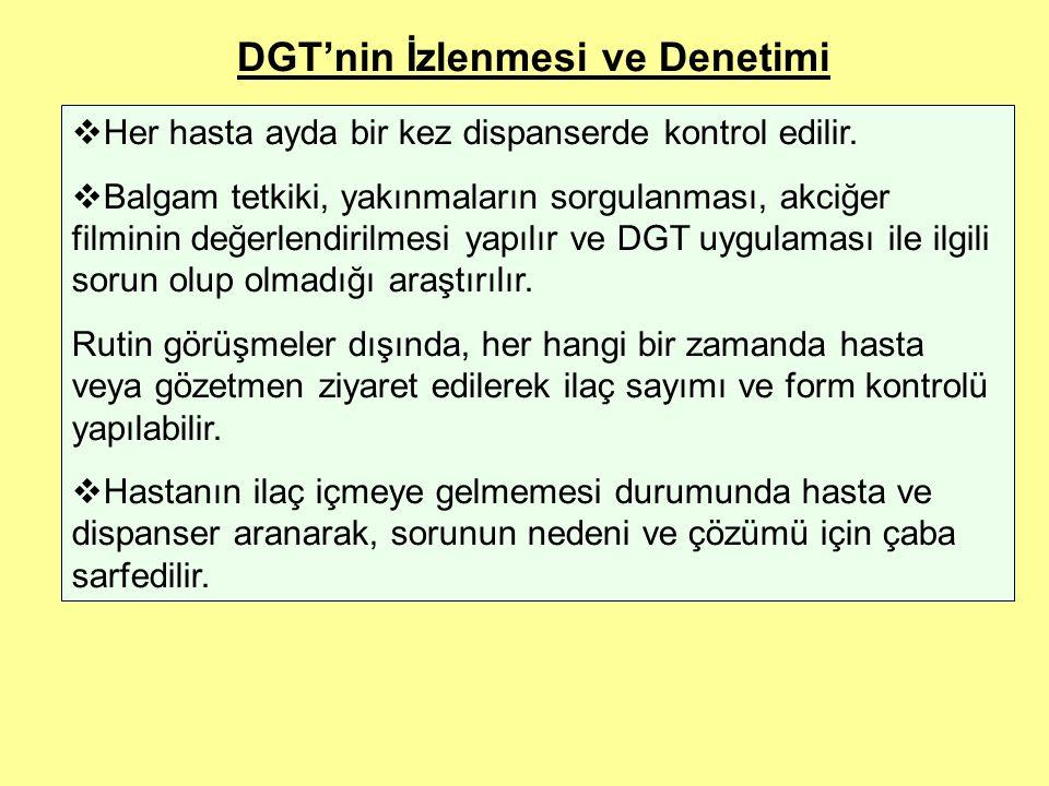 DGT'nin İzlenmesi ve Denetimi