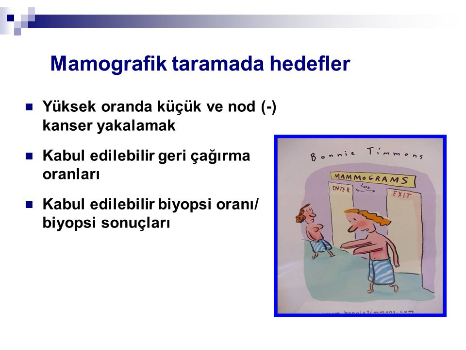 Mamografik taramada hedefler